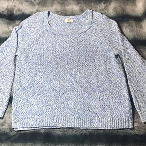Old Navy Blue & White Knit Sweater